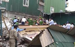 Sập mái tầng 2 ở Trụ sở UBND xã, 1 người bị đè tử vong