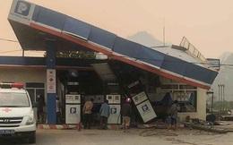 Xe tải đâm sập cây xăng khiến 1 người chết, 5 người bị thương