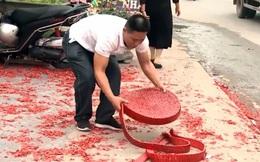 Chủ tịch TP Hà Nội chỉ đạo xử lý nghiêm vụ đốt pháo đỏ đường tại đám cưới ở Sóc Sơn