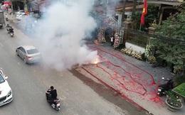 Đối tượng đốt pháo tại đám cưới ở Sóc Sơn ra đầu thú