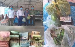 2 em nhỏ đập lợn tiết kiệm, các cụ già mang rau, gạo ủng hộ phòng dịch Covid-19 ở Nghệ An, Hà Tĩnh