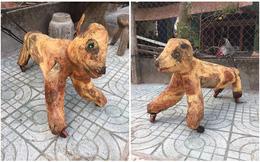 Thấy con vật hàng xóm mới khắc xong, anh chàng lỡ khen một câu khiến chủ nhân giận dữ đuổi về