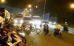 """Nhóm """"quái xế"""" đua xe, tông vào công an, 1 chiến sĩ cảnh sát cơ động phải cưa chân"""