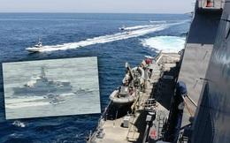 NÓNG: 11 tàu tấn công nhanh Iran bao vây, uy hiếp tàu chiến Mỹ trên vịnh Ba Tư