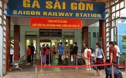 Ga Sài Gòn tăng chuyến sau khi dừng xét nghiệm Covid-19