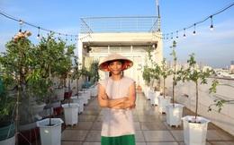 Vườn hồng trên sân thượng hơn 100 triệu đồng của chồng Khánh Thi