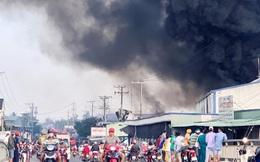 Cháy kinh hoàng tại công ty sản xuất bao xốp trái cây, thiệt hại khoảng 60 tỷ đồng
