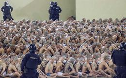 24h qua ảnh: Cảnh sát kiểm tra phạm nhân trong nhà tù két tiếng ở El Salvador