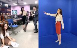 BTV thời tiết xinh đẹp Xuân Anh hé lộ hậu trường hài hước, không thể thấy trên tivi