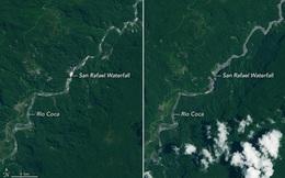 Thác nước nghìn năm tuổi ở Ecuador đột ngột biến mất