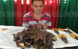 Bắt quả tang thanh niên rải đinh trên Quốc lộ rồi chặt chém giá ruột, lốp xe máy ở Đồng Nai