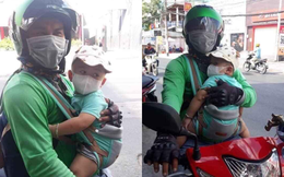 Ông bố ôm con đi chạy xe ôm, lý do phía sau được tiết lộ khiến nhiều người xúc động