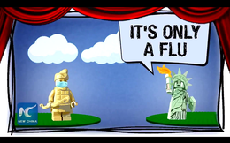 """Đại sứ quán TQ gây sốt với đoạn video mỉa mai cách Mỹ phòng dịch: """"Chỉ là cúm thôi mà"""""""