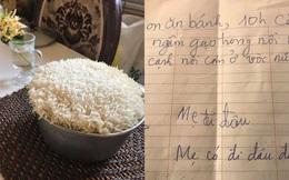 Mẹ khoe nồi cơm con gái nấu nhưng điều gây chú ý nhất là nội dung trên mẩu giấy nhắn để lại