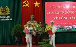 Trao quyết định bổ nhiệm hai tân Phó Giám đốc Công an Thừa Thiên-Huế