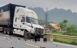 Lạng Sơn: Container lấn làn tông liên hoàn 3 ô tô xe máy khiến 3 người thương vong