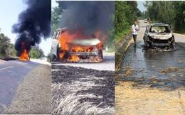 Xế hộp tiền tỷ bốc cháy dữ dội khi đi trên đường, chủ xe bỏng nặng