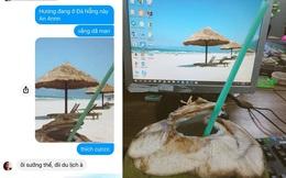 """Khoe nằm bãi biển uống nước dừa, cô gái khiến đám bạn ở nhà ghen tị, sự thật """"đau lòng"""" nằm trong tấm ảnh cuối"""
