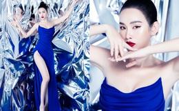 Á hậu Thanh Trang khoe vẻ đẹp sắc sảo, quyến rũ với váy xẻ cao táo bạo