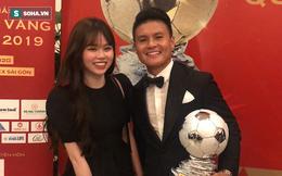 Quang Hải ngơ ngác tìm bạn gái trong ngày Hùng Dũng nhận giải thưởng QBV Việt Nam 2019