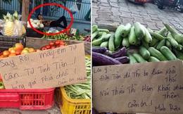 Say xỉn nhưng vợ bắt ra bán rau, người đàn ông viết tấm biển thông báo khiến tất cả không thể nhịn cười