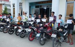 19 thanh, thiếu niên tụ tập chuẩn bị đua xe bị công an bắt