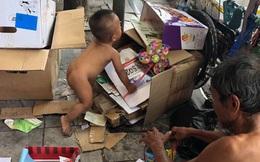 Bé trai 18 tháng tuổi trần truồng bị đưa đi khắp phố Hà Nội để mưu sinh