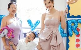 Bào Ngư được mẹ Phan Hoàng Thu và bà ngoại tới tận trường mừng sinh nhật