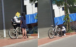 """Đạp xe dưới trời nắng gần 40 độ đến tặng quà cho bạn gái, chàng trai bị """"phũ"""" ngồi gục bên đường"""