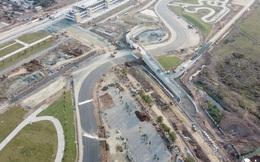 Toàn cảnh đường đua F1 tại Hà Nội từ trên cao, đang trong quá trình hoàn thiện