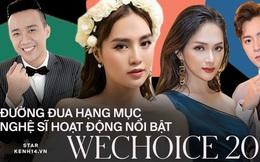 Cuộc đua bình chọn nghệ sĩ hoạt động nổi bật WeChoice 2019: Hương Giang xuất sắc dẫn đầu, Trấn Thành, Ngô Kiến Huy đang bám sát nút!
