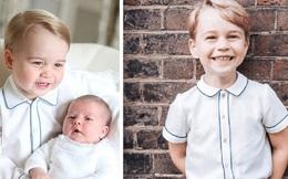 Soi lại hình cũ hình mới của Hoàng tử George, fan hí hửng phát hiện cậu bé chỉ mặc độc một kiểu áo trong các sự kiện trang trọng