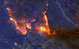 Đại thảm họa cháy rừng Úc nhìn từ không gian: Cả nước như quả cầu lửa, những mảng xanh trù phú bị thay bằng màu khói trắng tang thương