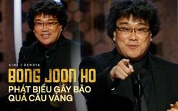 """Đạo diễn """"Kí Sinh Trùng"""" phát ngôn gây bão tại Quả Cầu Vàng: Chúng ta chỉ có duy nhất một ngôn ngữ là điện ảnh!"""