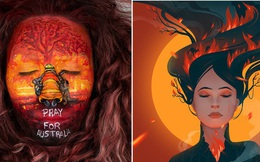 Những bức tranh đầy cảm xúc từ các nghệ sĩ trên toàn thế giới bày tỏ niềm xót thương cho thảm hoạ cháy rừng Úc