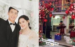 Cận cảnh biệt thự nhà Quỳnh Anh trước ngày đám hỏi với Duy Mạnh: Phủ hết màu đỏ, lộng lẫy và hoàng tráng