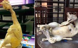 Loạt tác phẩm gà cúng trước thềm Festival âm lịch: Xem chừng có nhiều người Tết này mất vui chỉ vì một con gà rồi!