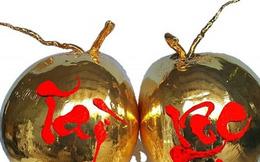 Dừa tươi dát vàng độc đáo ngày Tết thu hút khách hàng