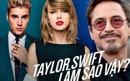"""Taylor Swift sắp thành nữ hoàng thị phi: Hết bị """"Iron Man"""" cà khịa, MC động chạm đến lùm xùm đuổi Justin khỏi phòng tập"""