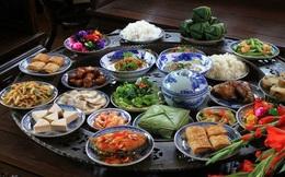 Mâm cơm truyền thống ngày Tết Nguyên Đán miền Bắc