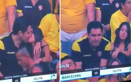 Góc đen đủi: Bị camera quay được cảnh hôn gái lạ trên khán đài, fan bóng đá bị vợ đá tức khắc vì tội 'cắm sừng'