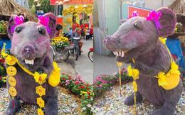Linh vật chuột mình đầy lông lá ở Củ Chi 'biến hình' thành nàng công chúa khiến dân mạng 'té ngửa': Đánh má hồng, gắn răng thỏ, đeo nơ baby
