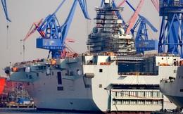 Tàu đổ bộ Type 075 Trung Quốc vẫn ngổn ngang sau 4 tháng hạ thủy
