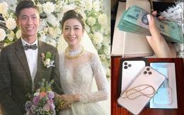 Nhật Linh (vợ Phan Văn Đức) cầm cả xấp tiền đi mua vàng ngày vía thần tài, khoe được chồng tặng Iphone 11 làm quà valentine sớm
