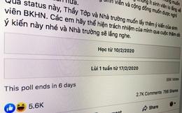 Không biết cho sinh viên đi học hay nghỉ tiếp, Đại học Bách Khoa Hà Nội tổ chức trưng cầu dân ý online