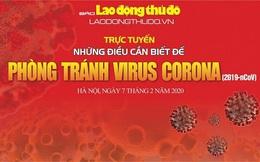 Mời gửi câu hỏi đến buổi trực tuyến 'Những điều cần biết để phòng tránh virus Corona'