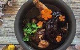 Cuối tuần bồi bổ sức khỏe cho cả nhà với món gà hầm nấm ngon xuất sắc