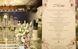 Lộ diện thực đơn tiệc cưới Duy Mạnh - Quỳnh Anh tại khách sạn JW Marriott với toàn món đắt tiền hơn hẳn
