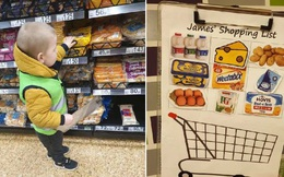 """Mẹo nhỏ của bà mẹ giúp con ngoan ngoãn khi đi siêu thị, dân mạng thi nhau khen """"quá xuất sắc"""""""