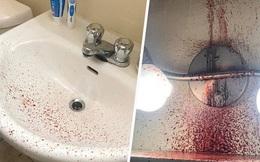Vừa về tới nhà, người đàn ông ngửi thấy mùi hôi thối và nhà tắm đầy máu trước khi cơ quan chức năng phát hiện nguồn cơn từ nhà tầng trên